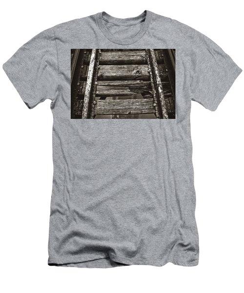 Narrow Gauge Tracks #photography #art #trains Men's T-Shirt (Athletic Fit)