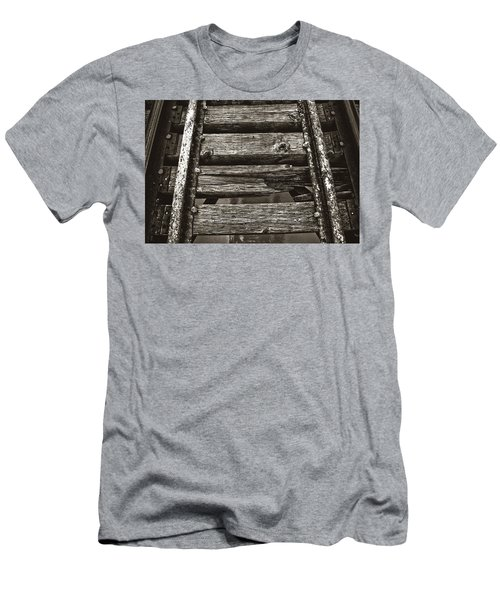 Narrow Gauge Tracks #photography #art #trains Men's T-Shirt (Athletic Fit)
