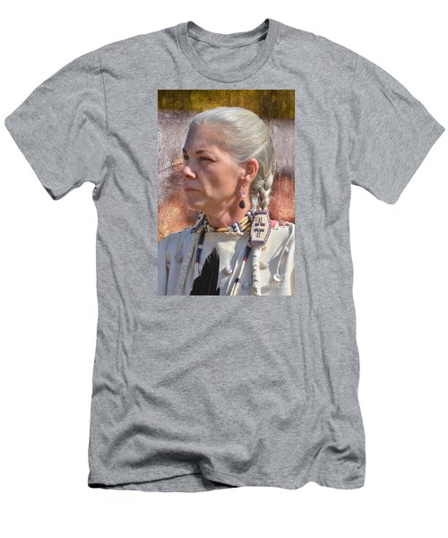 Native American Woman Men's T-Shirt (Athletic Fit)
