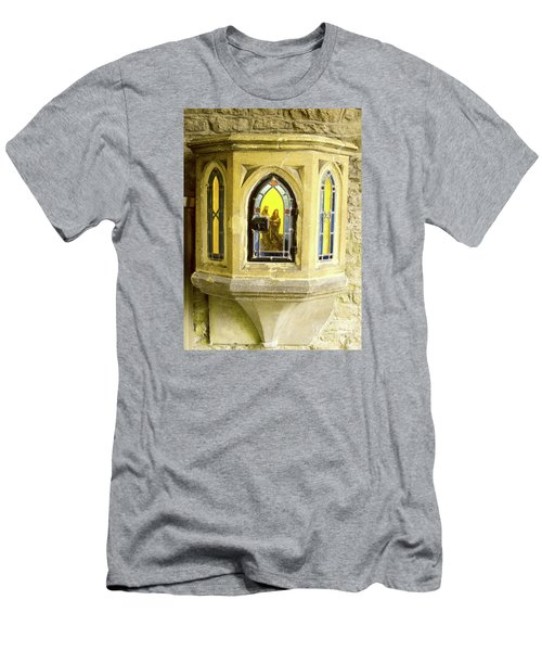 Men's T-Shirt (Slim Fit) featuring the photograph Nativity In Ancient Stone Wall by Linda Prewer