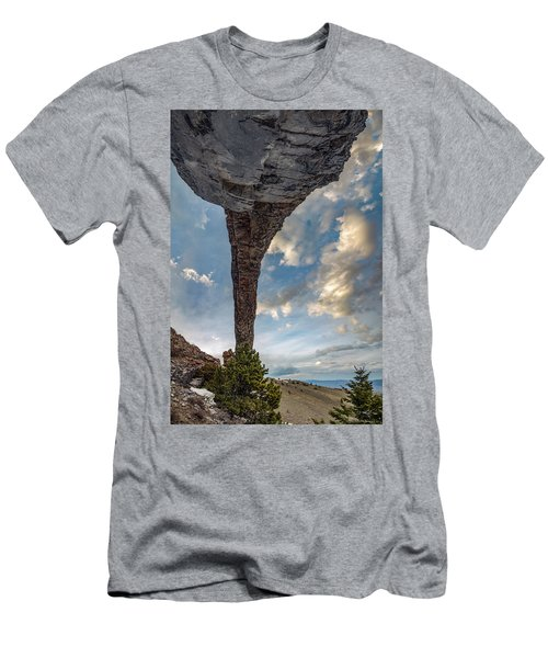 Men's T-Shirt (Slim Fit) featuring the photograph Natural Arch 2 by Leland D Howard
