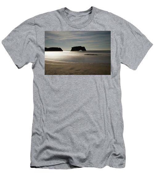Natural Bridges State Beach Sand Men's T-Shirt (Athletic Fit)