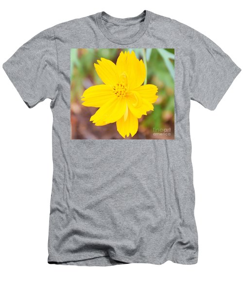 Men's T-Shirt (Slim Fit) featuring the photograph Nature Colorful Flower Gifts - Yellow by Ray Shrewsberry
