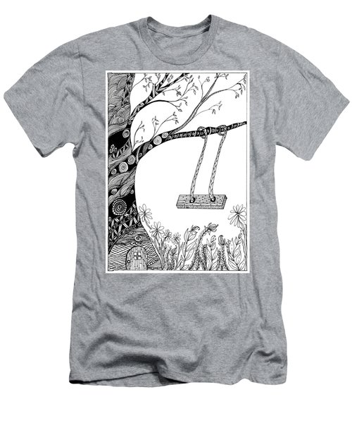 Nature Is Calling Come Out And Play Men's T-Shirt (Athletic Fit)