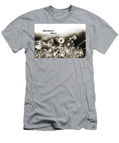 Nature's  Smile Monochrome Men's T-Shirt (Slim Fit) by Joseph S Giacalone