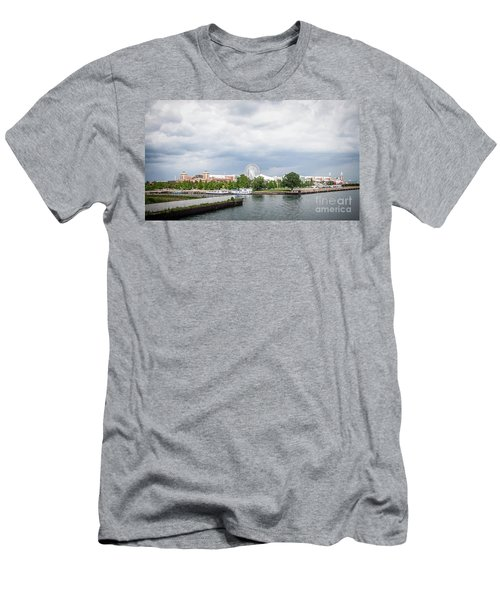 Navy Pier In Chicago Men's T-Shirt (Athletic Fit)