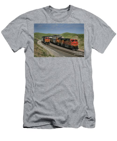 Nebraska Coal Trains Men's T-Shirt (Athletic Fit)