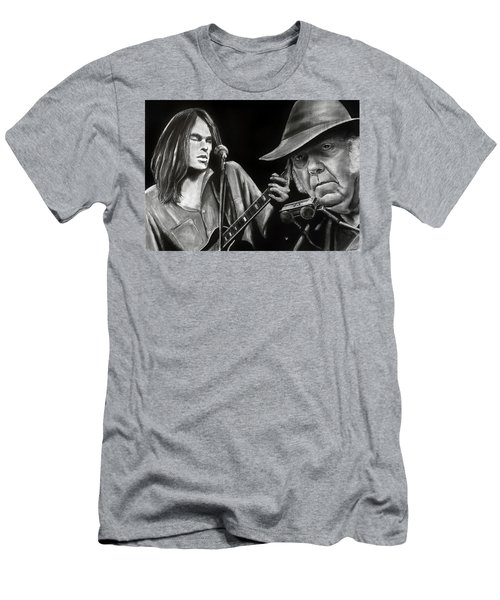 Neil Young And Neil Old Men's T-Shirt (Athletic Fit)