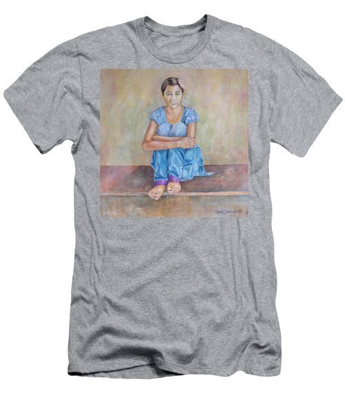 Nepal Girl 4 Men's T-Shirt (Slim Fit) by Marty Garland