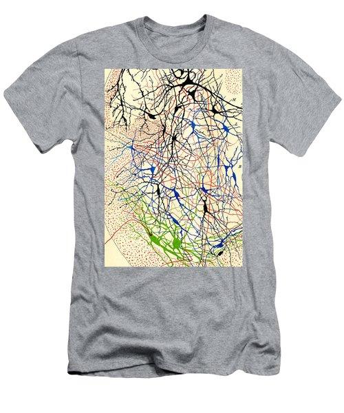 Nerve Cells Santiago Ramon Y Cajal Men's T-Shirt (Athletic Fit)