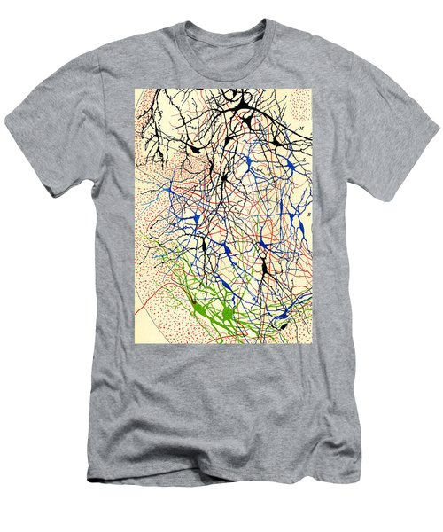 Nerve Cells Santiago Ramon Y Cajal Men's T-Shirt (Athletic Fit)