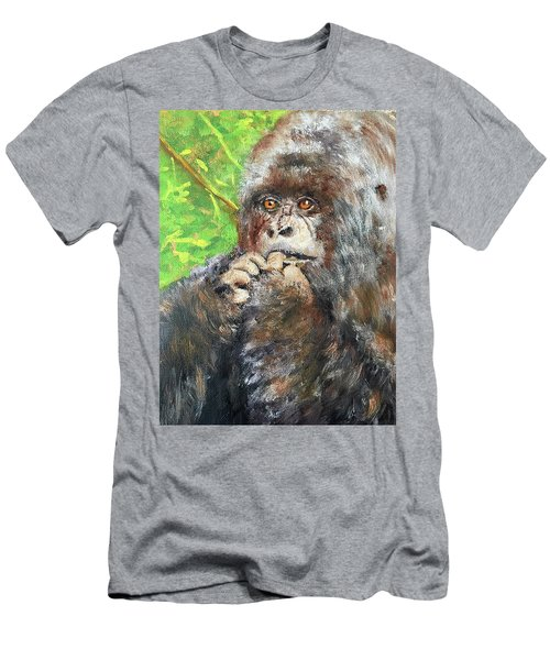 Nervous Mama Gorilla Men's T-Shirt (Athletic Fit)