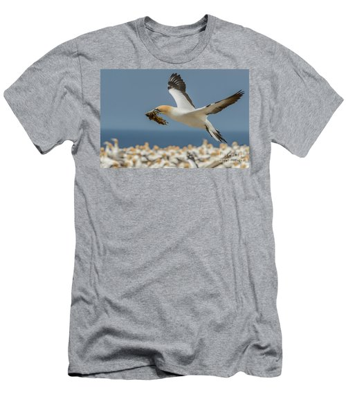 Men's T-Shirt (Athletic Fit) featuring the photograph Nest Building by Werner Padarin