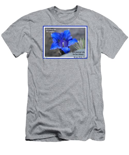 Men's T-Shirt (Slim Fit) featuring the digital art Never Be Cruel by Holley Jacobs