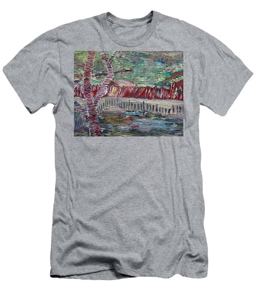 Men's T-Shirt (Athletic Fit) featuring the painting Infinite Hope by Vadim Levin