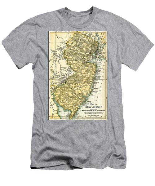 New Jersey Antique Map 1891 Men's T-Shirt (Athletic Fit)