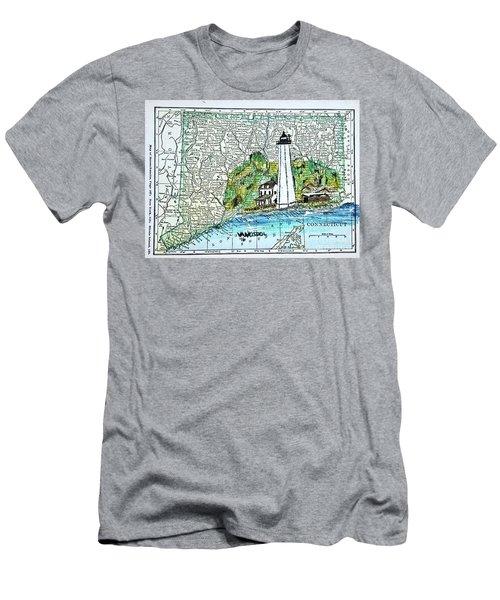 New London Harbor Lighthouse - Connecticut Men's T-Shirt (Athletic Fit)