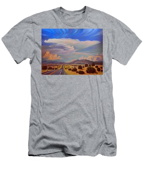 Men's T-Shirt (Slim Fit) featuring the painting New Mexico Cloud Patterns by Art James West