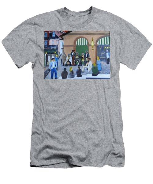 New Orleans Jazz - Rain Or Shine Men's T-Shirt (Athletic Fit)