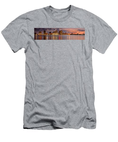 New Orleans Skyline At Dusk Men's T-Shirt (Athletic Fit)