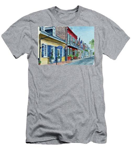 New Orleans, Street Scene, Pierre Hotel Men's T-Shirt (Athletic Fit)