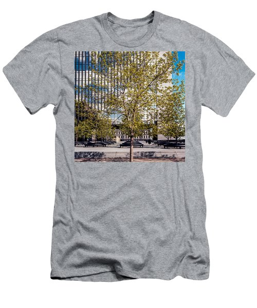 Trees On Fed Plaza Men's T-Shirt (Athletic Fit)