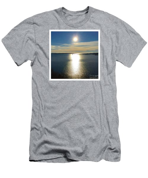 New Year's Day 2016, Casco Bay, Portland, Maine  Men's T-Shirt (Slim Fit) by Patricia E Sundik