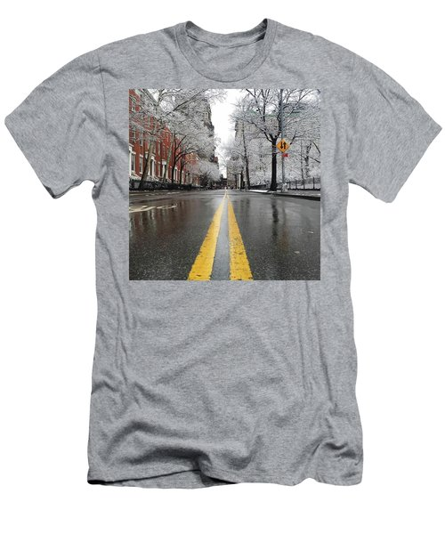 New York 1st Snow Men's T-Shirt (Athletic Fit)