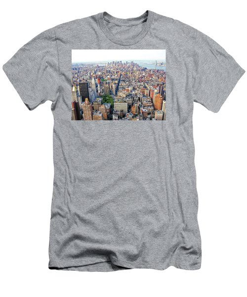 New York Aerial View Men's T-Shirt (Athletic Fit)