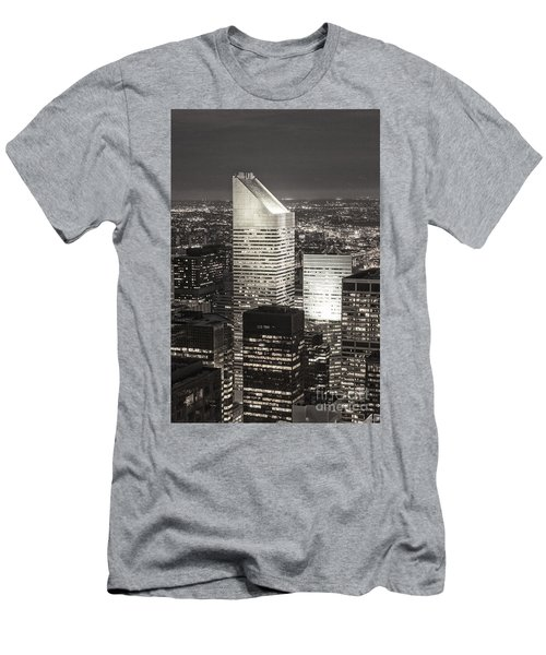 Men's T-Shirt (Athletic Fit) featuring the photograph New York Citigroup Center  by Juergen Held