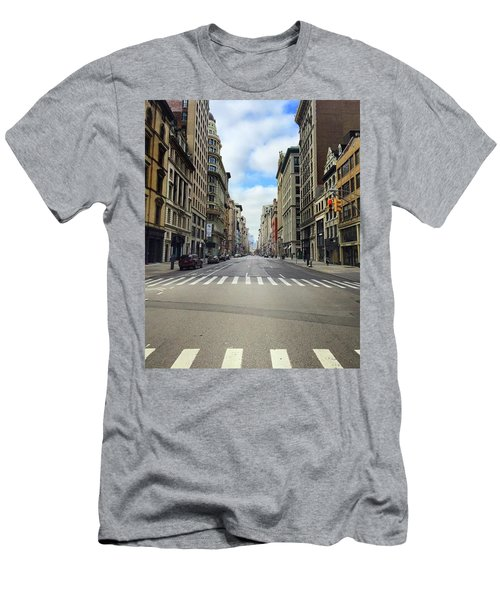 New York Edge Of City Men's T-Shirt (Athletic Fit)