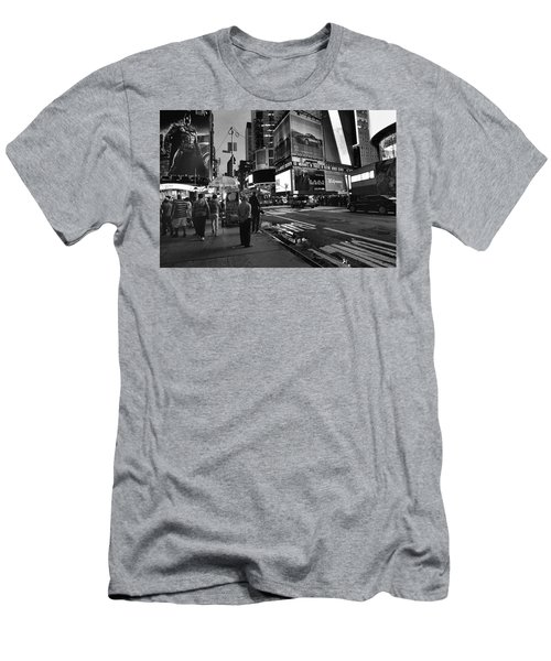 Men's T-Shirt (Athletic Fit) featuring the photograph New York, New York 1 by Ron Cline