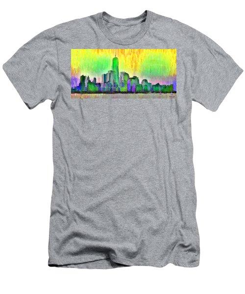 New York Skyline 5 - Da Men's T-Shirt (Athletic Fit)