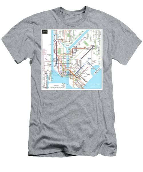 New York Subway Map Men's T-Shirt (Athletic Fit)