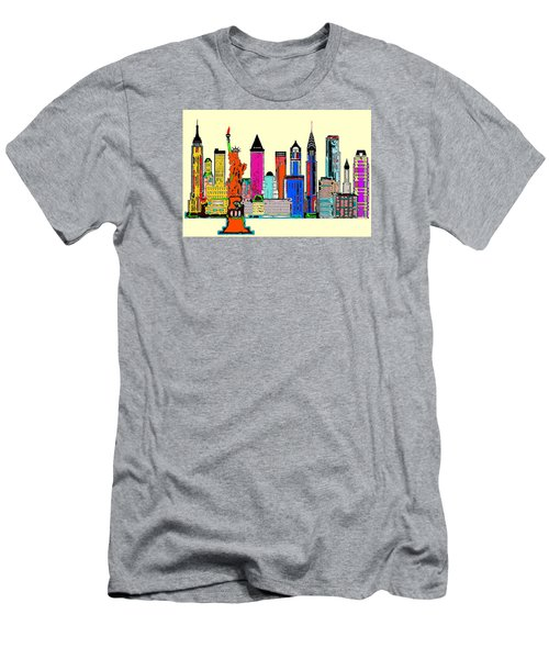 New York - The Big City Men's T-Shirt (Athletic Fit)