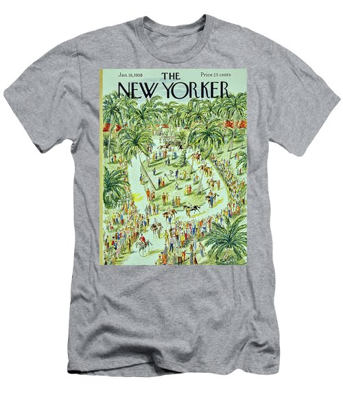 New Yorker January 18 1958 Men's T-Shirt (Athletic Fit)