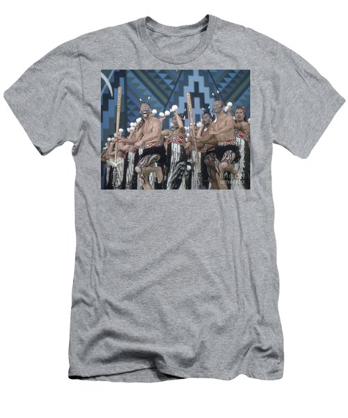 Men's T-Shirt (Athletic Fit) featuring the photograph New Zealand,north Island,  Rotorua Arts Festival,dance And Singi by Juergen Held
