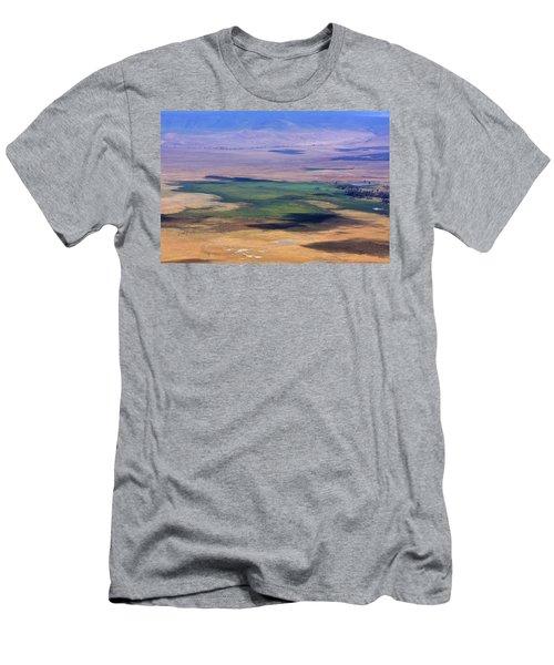 Ngorongoro Crater Tanzania Men's T-Shirt (Slim Fit) by Aidan Moran