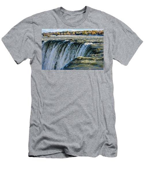 Niagara Falls In Autumn Men's T-Shirt (Athletic Fit)