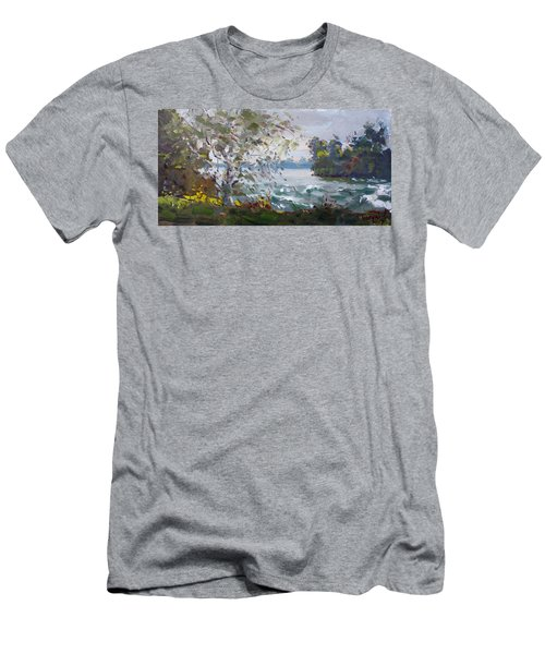 Niagara Falls Park Rapids Men's T-Shirt (Athletic Fit)