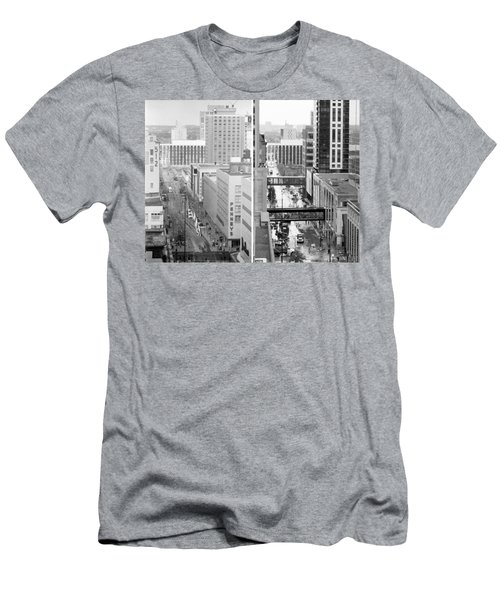 Nicollet Mall From Dayton's 12th Floor Men's T-Shirt (Athletic Fit)