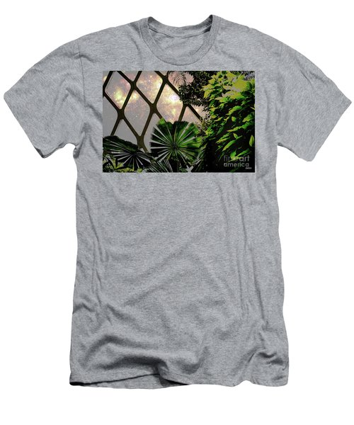 Night In The Arboretum Men's T-Shirt (Slim Fit) by Deborah Nakano