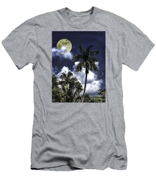 Night Palms Men's T-Shirt (Slim Fit) by Ken Frischkorn
