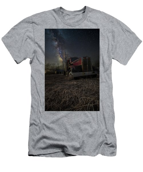 Men's T-Shirt (Slim Fit) featuring the photograph Night Rig by Aaron J Groen