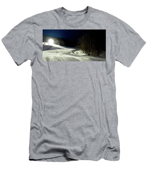 Men's T-Shirt (Slim Fit) featuring the photograph Night Skiing At Mccauley Mountain by David Patterson