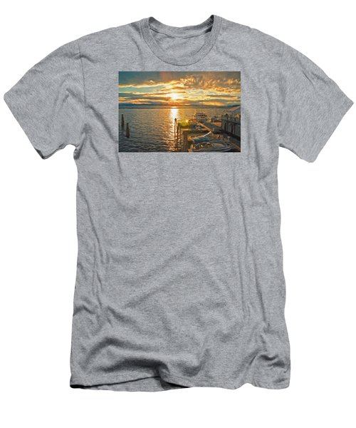Nighttime Dockage Men's T-Shirt (Slim Fit) by Rena Trepanier