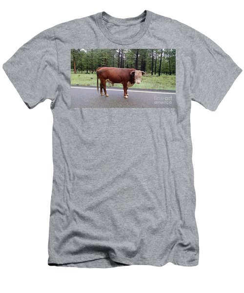Men's T-Shirt (Slim Fit) featuring the photograph No Bull by Roberta Byram