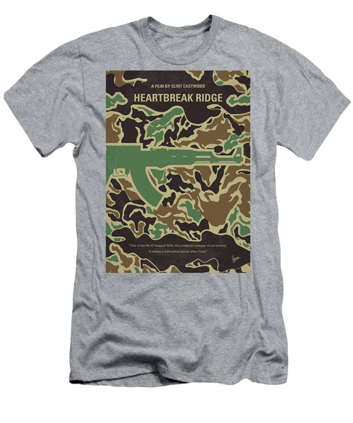 Men's T-Shirt (Slim Fit) featuring the digital art No747 My Heartbreak Ridge Minimal Movie Poster by Chungkong Art