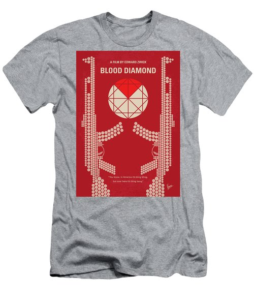 No833 My Blood Diamond Minimal Movie Poster Men's T-Shirt (Athletic Fit)