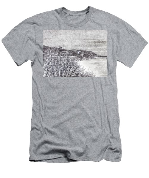 Nobska Lighthouse Men's T-Shirt (Athletic Fit)